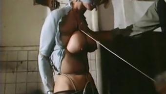 STRUNG UP - vintage bondage breasts bound tight