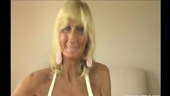 UK Granny big tits wanking big cock.m4v