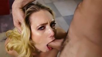 Premium AJ Applegate cock sucking in POV