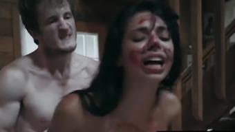 Tiny Tattooed Teen Gina Valentina Gags On Hard Dick And Gets Fucked