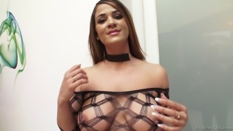 Miss Raquel is a cock craving babe who cannot resist a huge boner