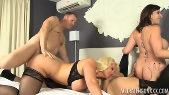 Group sex with Alura Jenson, Kimmy Lee and Sara Jay
