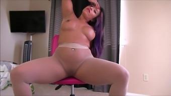 Sexy Woman Pantyhose Show