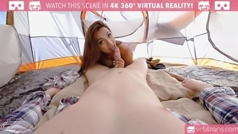 ts vr porn-jessi dubai is taking it hard in the ass and rocking the tent outdoor 360 vr porn