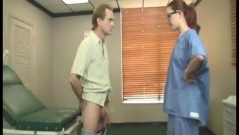 Dirty nurse in hardcore action
