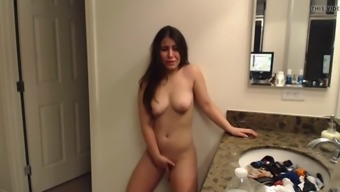 young cute girl great tits