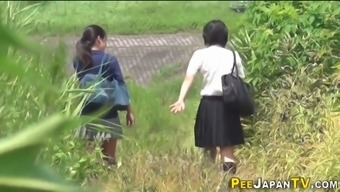 Japanese students piss