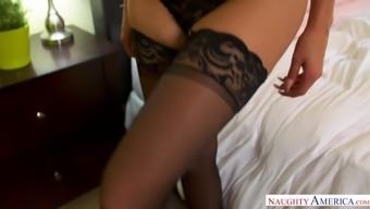 Big tits blonde MILF Nina Elle takes over - Naughty America