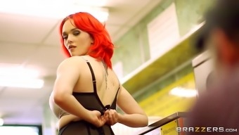 jasmine james strips down in front of all the other customers at the laundromat
