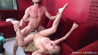 kandace kayne has her quivering slit slammed all over the couch