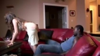 Curvaceous and wild redhead housewife wants to fuck black man
