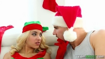 the little elf uma jolie getting her sweet slit pleasured and licked