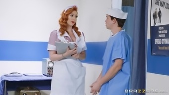 Busty pinup nurse Lauren Phillips is ready to take care of her patient