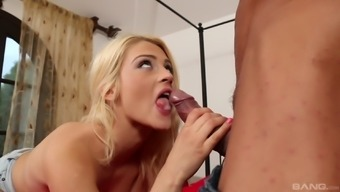 Aubrey Gold gets to bounce on a mature lover's big dick