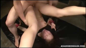 helpless ai mizushima gets fisted and pounded hard by her masters