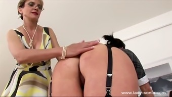 lady sonia 004 trophy wife hand spanking