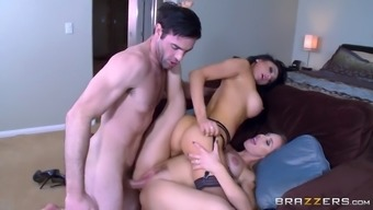 audrey bitoni and nicole aniston get their moist cunts drilled