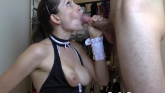 Lelu Love-Maid Keeps Job With Blowjob Facial