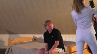 Old and young porn young teen fucked by old man in pussy and sucks cock