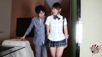 Scandalously short skirt on a horny Japanese tranny slut