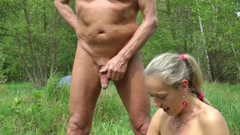 Car Flashing, wanking in wood and beach, sex with spectators