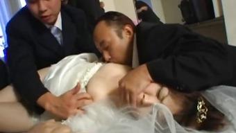 Asian bride gets hardcore group fucking part1