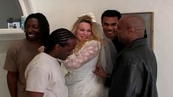 Bride gets IR gangbanged and double anal