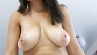TittyAttack Big natural tits latina Stacey Foxxx fucked cum on bo
