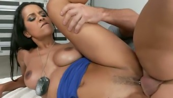 Abby Lee Brazil is experiencing a nice sex with a horny police officer