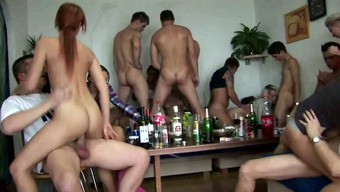 Drunk amateur girls get pounded at hardcore home party