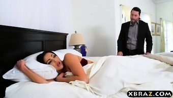 Cheating housewife with huge tits fucked with husband there