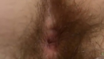 Briar shows off her hairy pussy and hairy ass