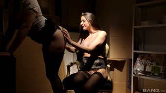 Secretaries romance each other in the supply closet