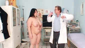 Full gyno exam with horny mature