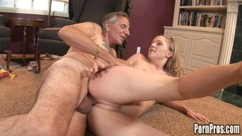 Sweet babe is getting this nice old dick
