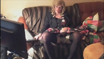 Mature gay slut loves dressing himself as a little girl