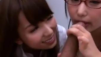 Two teen asian schoolgirls fucked by teacher
