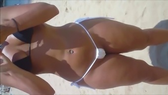 Spy and Voyeur Hot bitch pussy on the beach