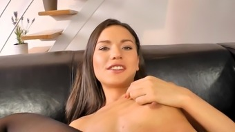 Young brunette Nataly Gold and old dick