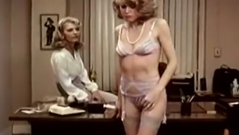 Lee Caroll and Sharon Kane having dirty lesbian sex in the office