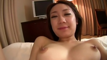 Teen with beautiful tits sucks dick like a pro