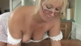 MELISSA MATURE DOWNBLOUSE SHAME. HER TITS ARE OUT OF HER TIGHT DRESS ! 1