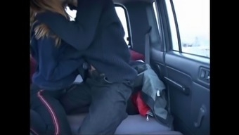 Amateur Russian couple sex in the car