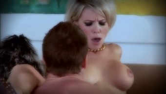 Cute blonde Kayla Synz enjoys sex in the reverse cowgirl pose