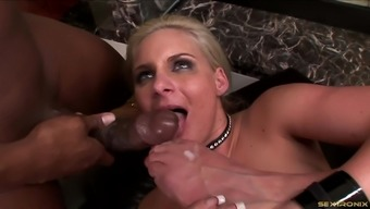 Cheating white wife fucking a glorious black man's big cock