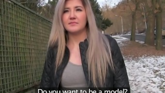 Public Agent Cute Russian loves sex for cash