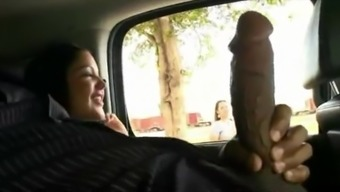 Stranger Touches Big Black Cock