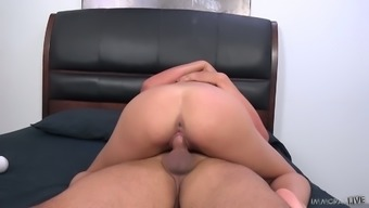 Cute babe Adria Rae has got a thing for mature men and she loves cowgirl