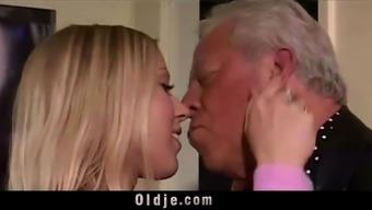 Vintage Old Young - Teenie Girl Fucked white hair grandpas