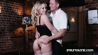 British milf Karlie Simon gets intimate with handsome chief cook